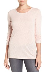 Caslonr Women's Caslon Long Sleeve Slub Knit Tee Pink Smoke
