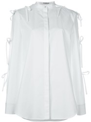 Chalayan Sleeve Tie Shirt White