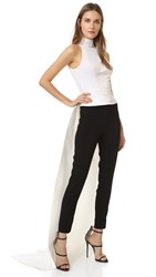 Monique Lhuillier Sleeveless Top With Train White