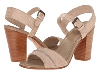Frye Portia Seam 2 Piece Beige Embosssed Full Grain Women's Dress Sandals Pink