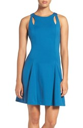 Ali And Jay Women's Cutout Ponte Fit Flare Dress Marine