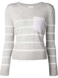 Band Of Outsiders Patch Pocket Striped Sweater