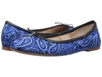 Sam Edelman Felicia Sailor Blue Bandana Print Women's Flat Shoes