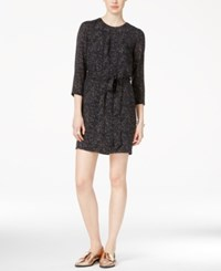 Armani Exchange Three Quarter Sleeve Printed Dress A Macy's Exclusive Black Multi
