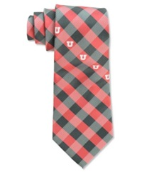 Eagles Wings Utah Utes Checked Tie Plaid