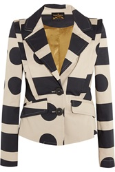 Vivienne Westwood Printed Stretch Cotton Twill Blazer Nude