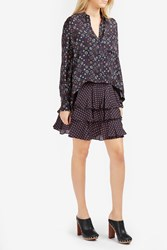 Derek Lam 2 In 1 Silk Shirt Dress Midnight