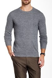 Qi Cashmere Crew Neck Sweater Gray