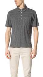 Billy Reid Davidson Polo Light Grey Navy