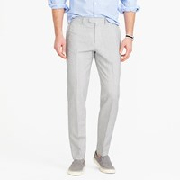 J.Crew Bowery Classic Pant In Fine Striped Cotton Linen