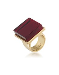 Trina Turk 14K Goldplated Brass Ring Red