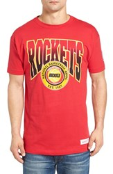 Mitchell And Ness Men's Rockets Graphic T Shirt