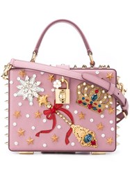 Dolce And Gabbana 'Dolce' Box Tote Pink And Purple