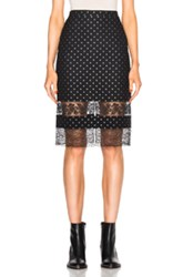 Givenchy Star Jacquard Skirt In Black Geometric Print Black Geometric Print