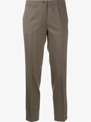 Etro Cropped Tailored Trousers Grey