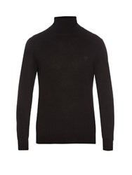 Alexander Mcqueen Roll Neck Cashmere Knit Sweater Black