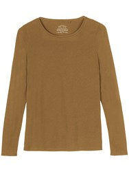 Fat Face Hollie Long Sleeve T Shirt Sandy Taupe