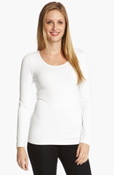 Karen Kane Supersoft Long Sleeve Tee White
