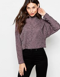 Love High Neck Top With Zip Detail Pink