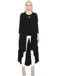 Antonio Berardi Asymmetrical Stretch Crepe Sable Coat