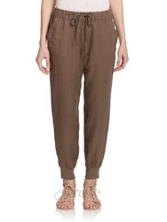 Joie Stuva Linen Track Pants Fatigue