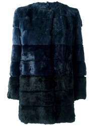Blugirl Fur Coat Blue