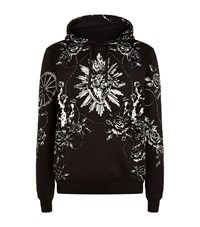 Dolce And Gabbana Velvet Floral Hoodie Male Multi
