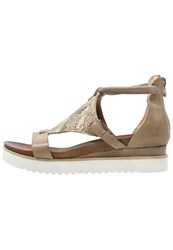 Mjus Spak Wedge Sandals Sass Beige Taupe