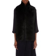 Whistles Reversible Sheepskin Gilet Black