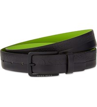 Hugo Boss Toluc Leather Belt Navy