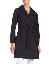 Ellen Tracy Water Resistant Hooded Trench Black