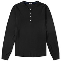 Schiesser Karl Heinz Long Sleeve Henley Black