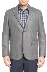 Men's Big And Tall John W. Nordstrom Classic Fit Solid Cashmere Sport Coat Charcoal
