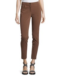 Brunello Cucinelli Stretch Skinny Cropped Leggings Brown