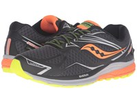 Saucony Ride 9 Gtx Black Slime Viziorange Men's Running Shoes