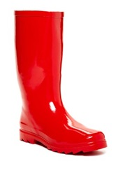 West Blvd Shoes Mid Calf Rain Boot Red