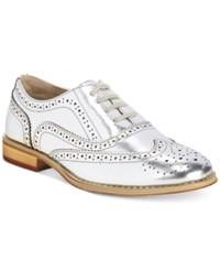 Wanted Babe Lace Up Oxfords Women's Shoes Silver