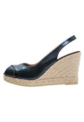 Kanna Peep Toes Blue Navy Dark Blue