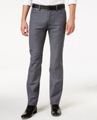 Vince Camuto Men's Charcoal Gray Stretch Pants Charcoal Check