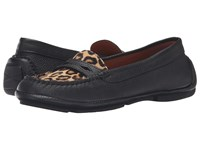 Aquatalia By Marvin K Sawyer Black Leopard Calf Haircalf Women's Shoes