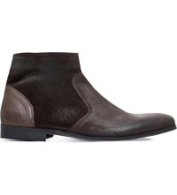 Kg By Kurt Geiger Reece Suede Ankle Boots Brown