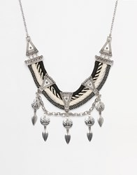 New Look Mono Rope Necklace Black