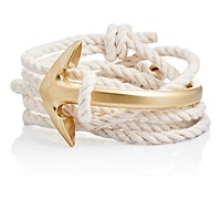 Miansai Men's Half Anchor Cuff Wrap Bracelet Nude