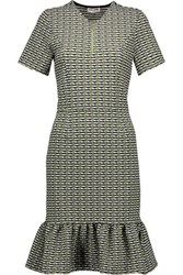 Opening Ceremony Check Jacquard Knit Dress Army Green