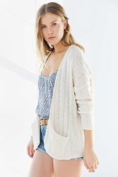Ecote Open Front Slouchy Cardigan Ivory