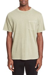Alexander Wang Men's T By Pocket T Shirt Army Green