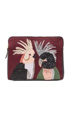 Lizzie Fortunato Safari Clutch Love Birds