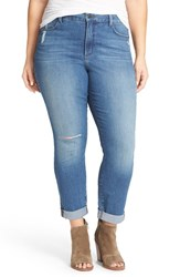 Nydj Plus Size Women's 'Leann' Stretch Boyfriend Jeans Cancun