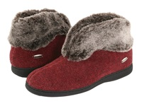 Acorn Faux Chinchilla Bootie Ii Crackleberry Women's Boots Burgundy
