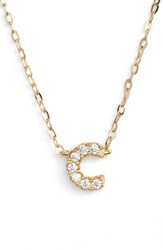 Women's Nadri Cubic Zirconia Initial Pendant Necklace C Gold